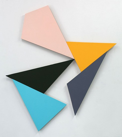 Ken Greenleaf ,   3-Polarity  ,  2014     Acrylic on canvas on shaped support ,  36 x 24 in. (91.4 x 61 cm)     GRE-00017