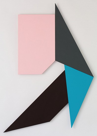 Ken Greenleaf ,   6-Polarity | SOLD  ,  2014     Acrylic on canvas on shaped support ,  4848 x 33 in. (12313.9 x 83.8 cm)     GRE-00022