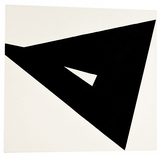 Ken Greenleaf ,   Trajectory  ,  2010     Acrylic on canvas on shaped support ,  23 x 25 in. (58.4 x 63.5 cm)     GRE-00006