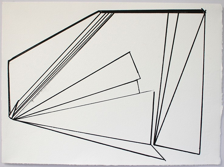 Ken Greenleaf ,   Linear 1  ,  2014     Acrylic on paper ,  11 x 14 in. (27.9 x 35.6 cm)     GRE-00024
