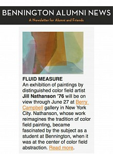 News: Jill Nathanson | Fluid Measure, June 16, 2015 - Artfix Daily