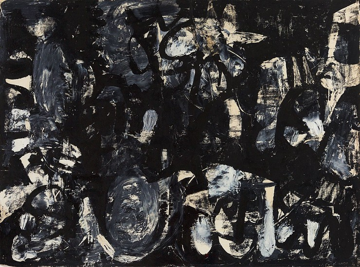 Charlotte Park ,   Untitled (50-49)  ,  c. 1955     Gouache and oil on paper ,  18 x 24 in. (45.7 x 61 cm)     PAR-00106