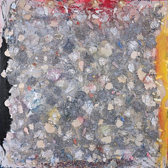 Stanley Boxer ,   Neromaquinablisteredearths | SOLD  ,  1990     Oil and mixed media on canvas ,  40 x 40 in. (101.6 x 101.6 cm)     BOX-00012