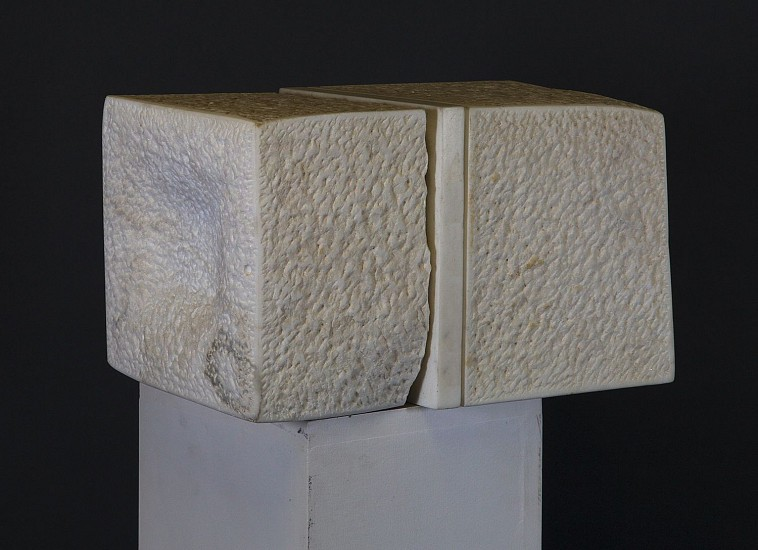 Stanley Boxer ,   Ornorfio'syes      White Carrara Statuary Marble and Wood ,  9 1/2 x 15 1/2 x 8 1/4 in. (24.1 x 39.4 x 21 cm)     BOX-00055