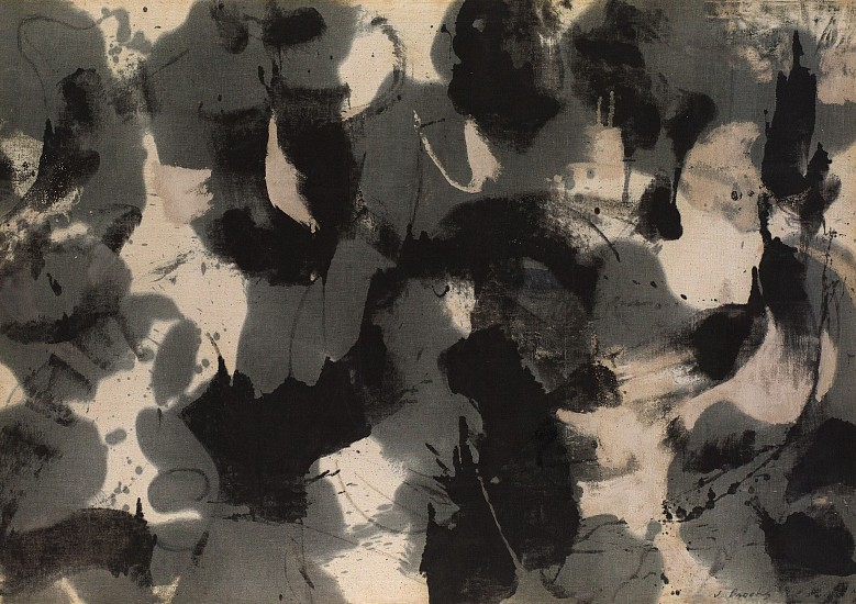 James Brooks ,   U | SOLD  ,  1952     Oil on canvas ,  38 1/2 x 54 9/10 in. (97.8 x 139.4 cm)     SOLD     BRO-00003