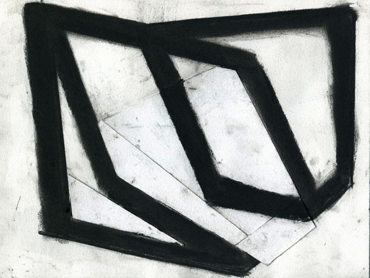 Ken Greenleaf ,   Blackwork #3 | SOLD  ,  2011     Charcoal and collage on paper ,  8 1/2 x 11 in. (21.6 x 27.9 cm)     SOLD     GRE-00012