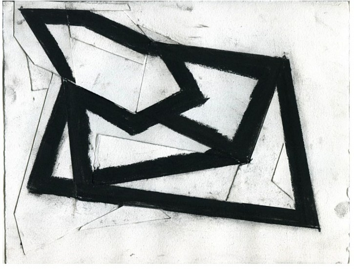 Ken Greenleaf ,   Blackwork #9 | SOLD  ,  2011     Charcoal and collage on paper ,  8 1/2 x 11 in. (21.6 x 27.9 cm)     SOLD     GRE-00010