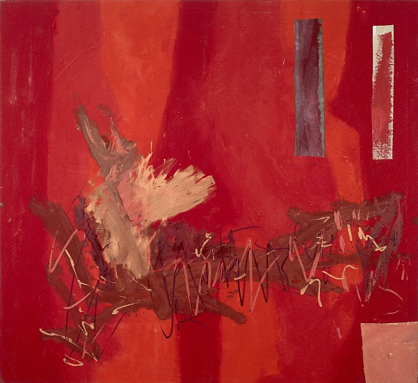 Ann Purcell ,   Fast Summer  ,  1982     Acrylic and collage on canvas ,  66 x 72 in. (167.6 x 182.9 cm)     PUR-00083