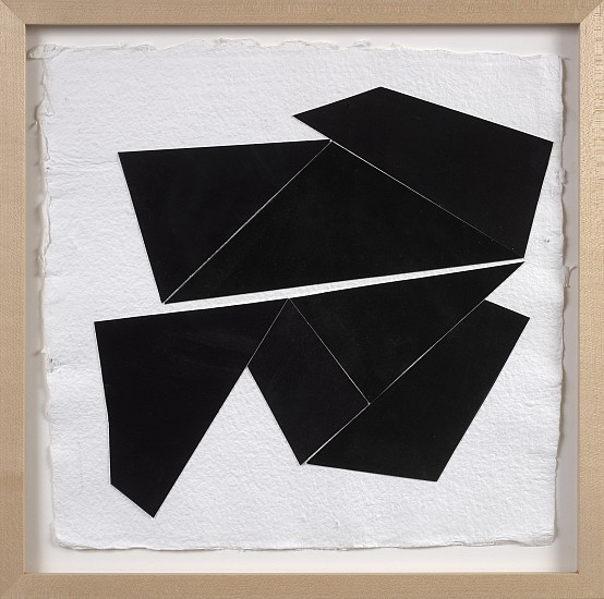 Ken Greenleaf ,   Black Collage 8  ,  2014     Gouache on Fabriano collaged on Shizen paper ,  12 x 12 in. (30.5 x 30.5 cm)     GRE-00029