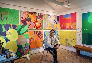 News: A Love of Crushed Pigment and Hard Work: Eric Dever (MA '88) on His Artistic Process, January 22, 2019 - NYU | Steinhardt News