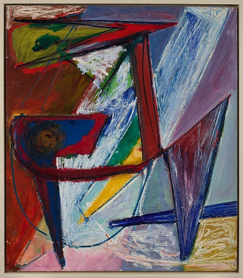 John Little ,   The Aggressor  ,  1946     Oil on canvas ,  32 x 28 in. (81.3 x 71.1 cm)     LIT-00004