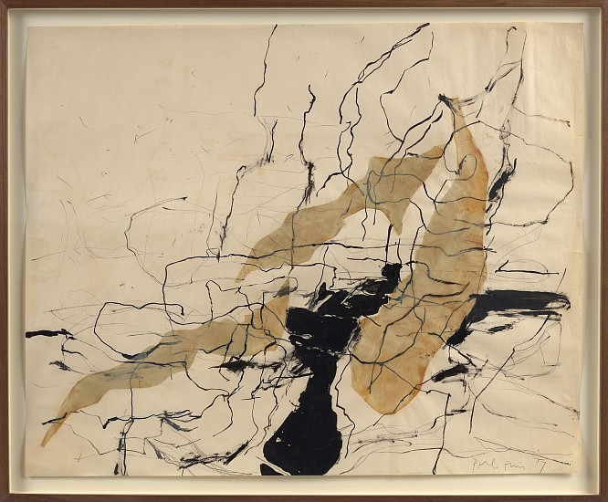 Perle Fine ,   Untitled  ,  1957     Ink and Mylar on paper ,  23 1/2 x 29 in. (59.7 x 73.7 cm)     FIN-00086
