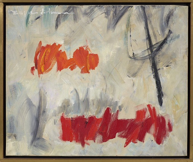 Buffie Johnson ,   Mist  ,  1960     Oil on canvas ,  21 1/2 x 25 1/4 in. (54.6 x 64.1 cm)     JOH-00001