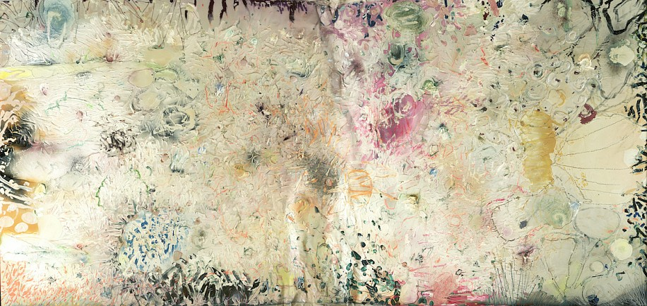 Stanley Boxer ,   Tenderstheseveredpassion  ,  1989     Oil and mixed media on canvas ,  72 x 156 in. (182.9 x 396.2 cm)     BOX-00019