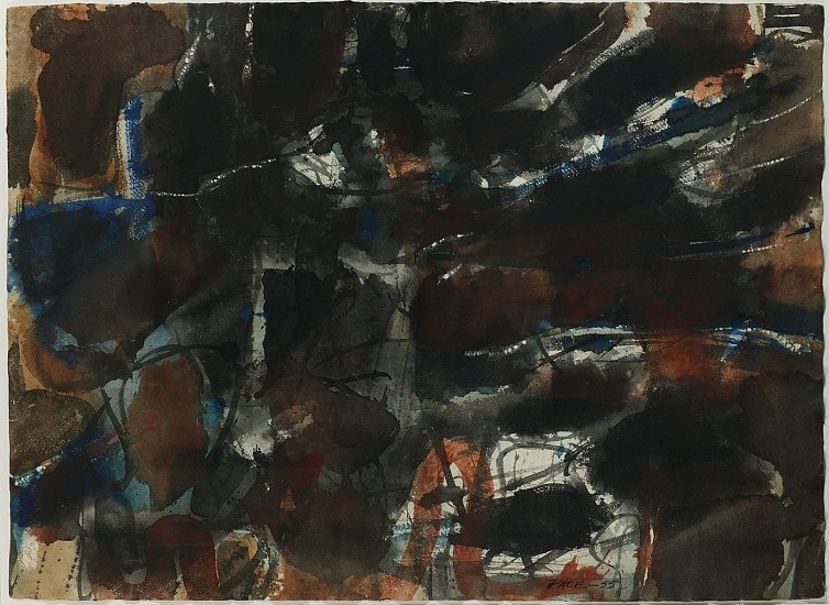 Stephen Pace ,   Untitled (55-W20A)  ,  1955     Watercolor on paper ,  22 1/2 x 30 1/2 in. (57.1 x 77.5 cm)     PAC-00155