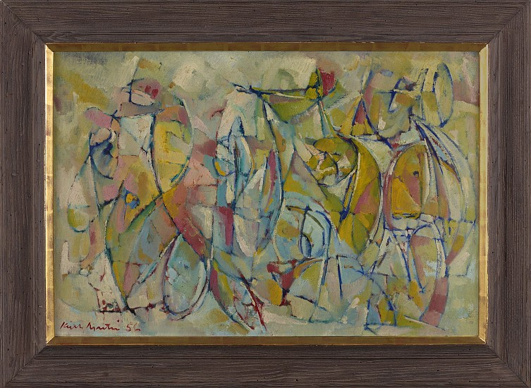 Keith Martin ,   Harlequinade  ,  1956     Oil on canvas ,  24 x 36 in. (61 x 91.4 cm)     MAR-00001