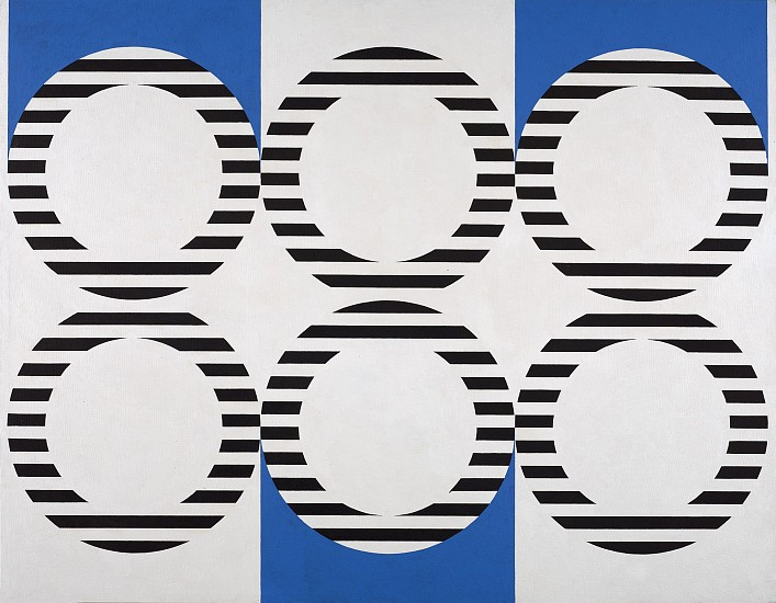 Mary Dill Henry ,   Pansynclastic Riddle  ,  1966     Acrylic on canvas ,  48 x 61 3/4 in. (121.9 x 156.8 cm)     MHEN-00074